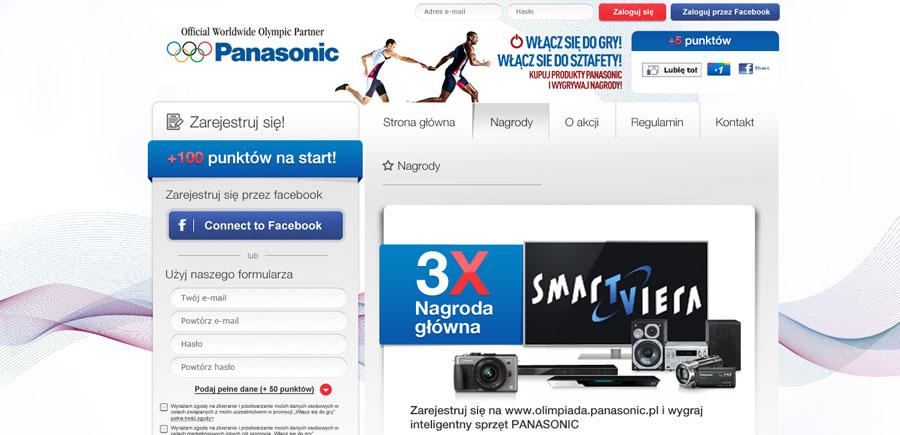 """facebookowa aplikacja konkursowa """"Panasonic - Włacz sie do gry!"""""""